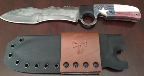 Original 13.5 inch Texas Warrior with hamon