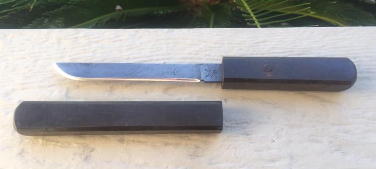 Traditional Japanese Damascus Tanto